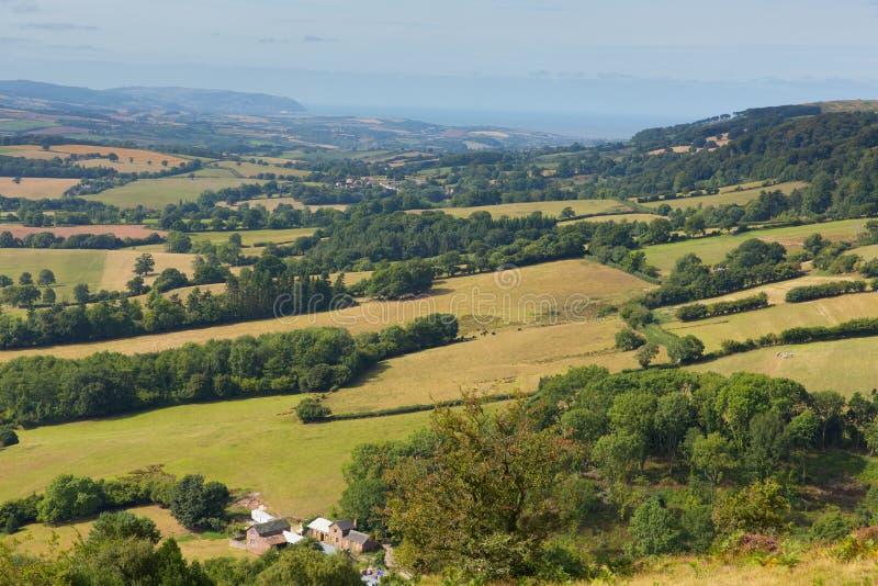 Visión desde las colinas Somerset England de Quantock imagenes de archivo