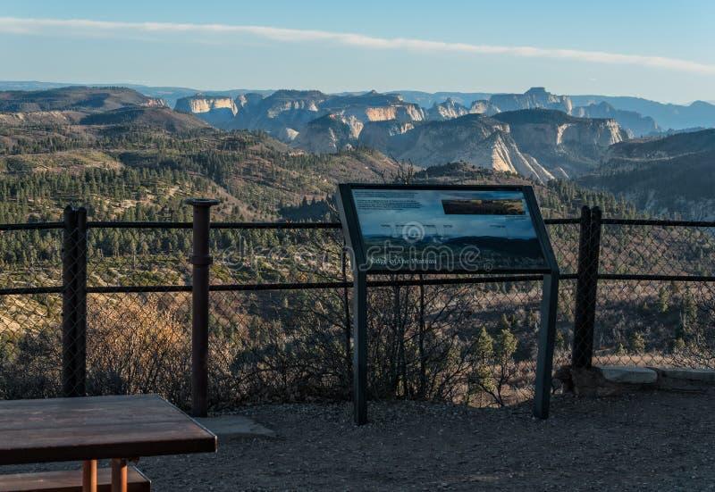 Visión desde Lava Point, Zion National Park imagen de archivo