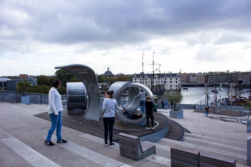 Visión desde NEMO Science Museum Amsterdam foto de archivo