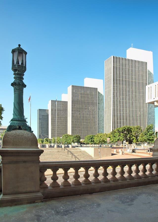 Visión desde pasos del edificio del capitol fotos de archivo