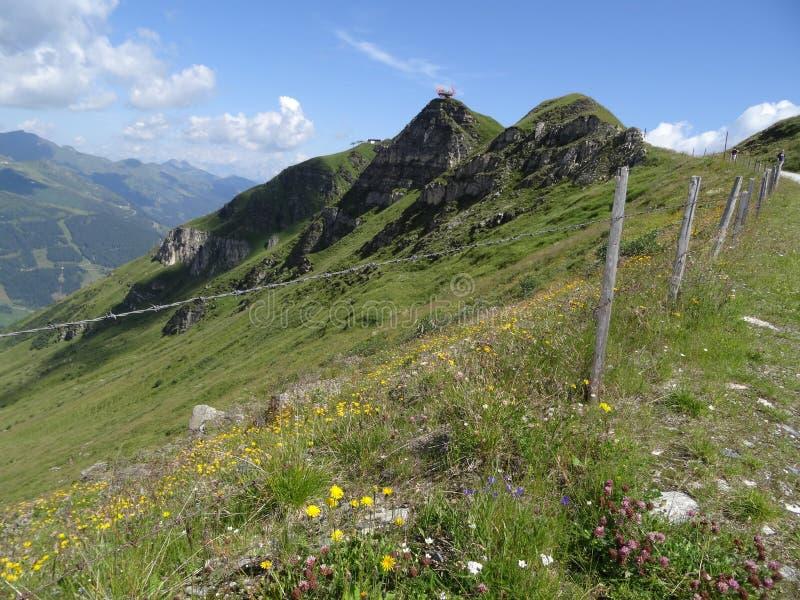 Visión desde Stubnerkogel, mún Gastein, Almorama, Salzburg, Austria foto de archivo libre de regalías