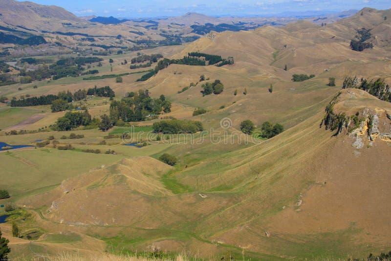 Visión desde Te Mata Peak, Napier imagen de archivo