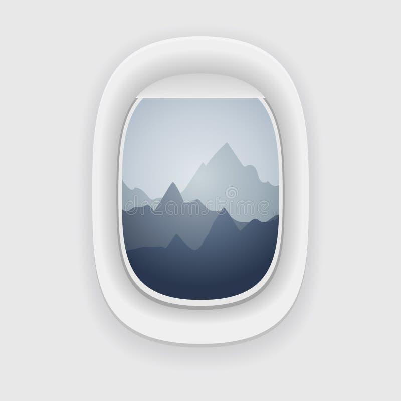 Visión desde una ventana del aeroplano libre illustration