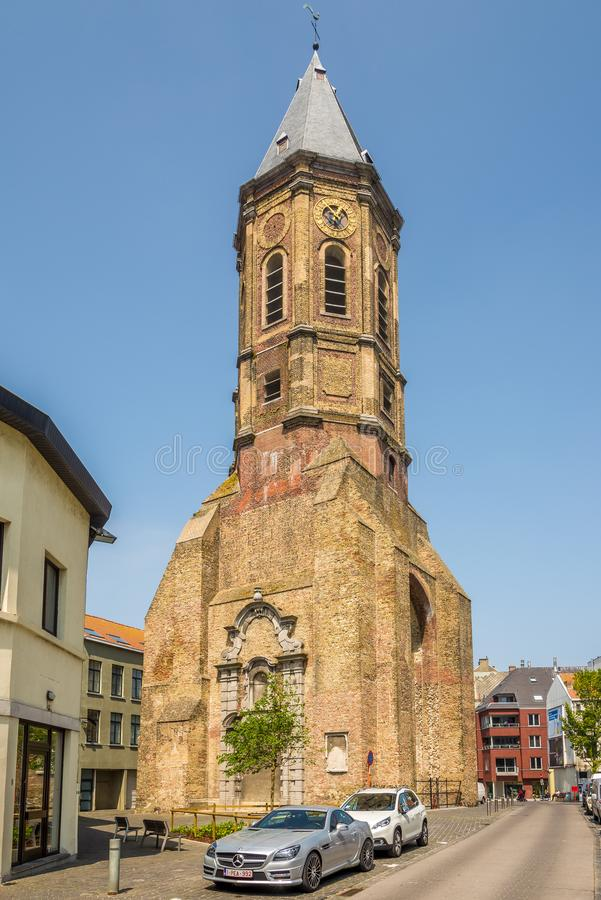 Visión en el campanario de Peperbusse en Ostende - Bélgica fotos de archivo