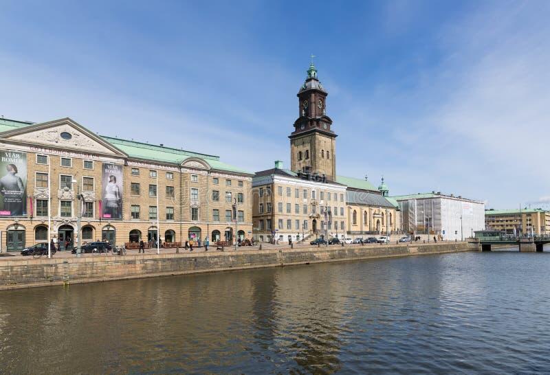 Visión en el canal grande del puerto de Goteburg imagenes de archivo