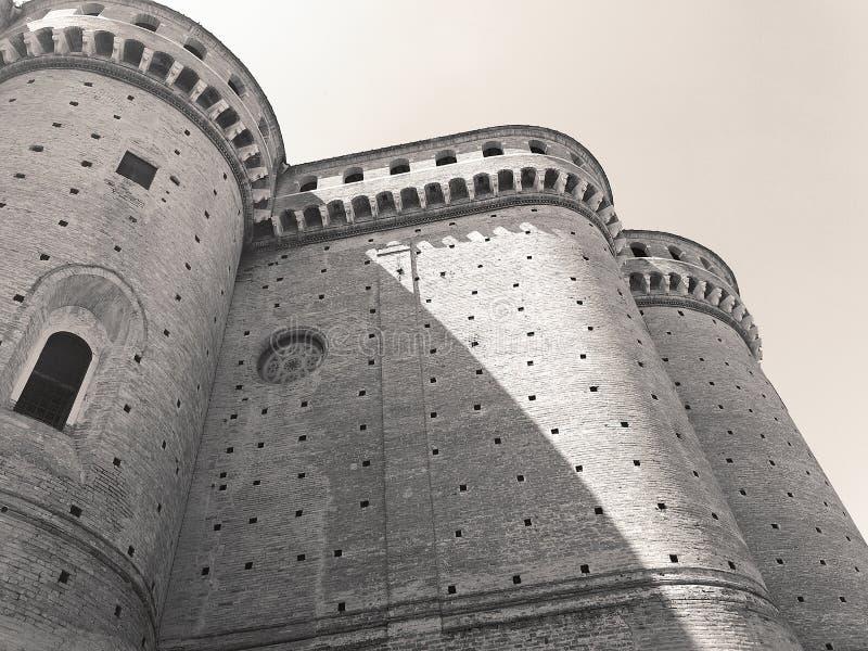 Visión en el centro medieval de Loreto, Italia imagen de archivo