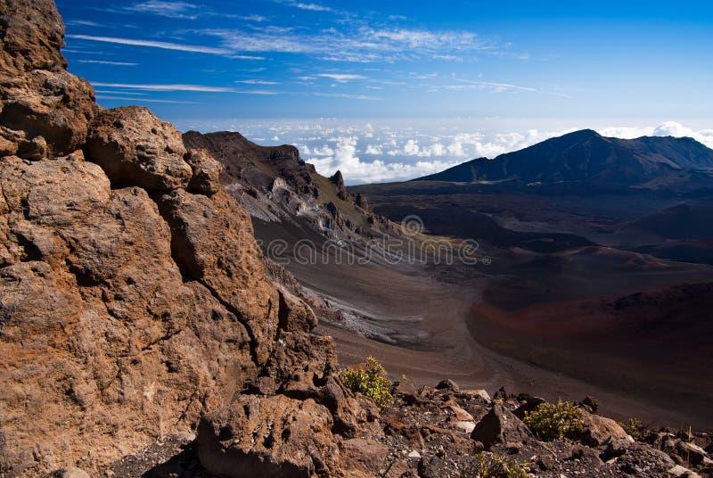 Visión en el cráter imagen de archivo libre de regalías