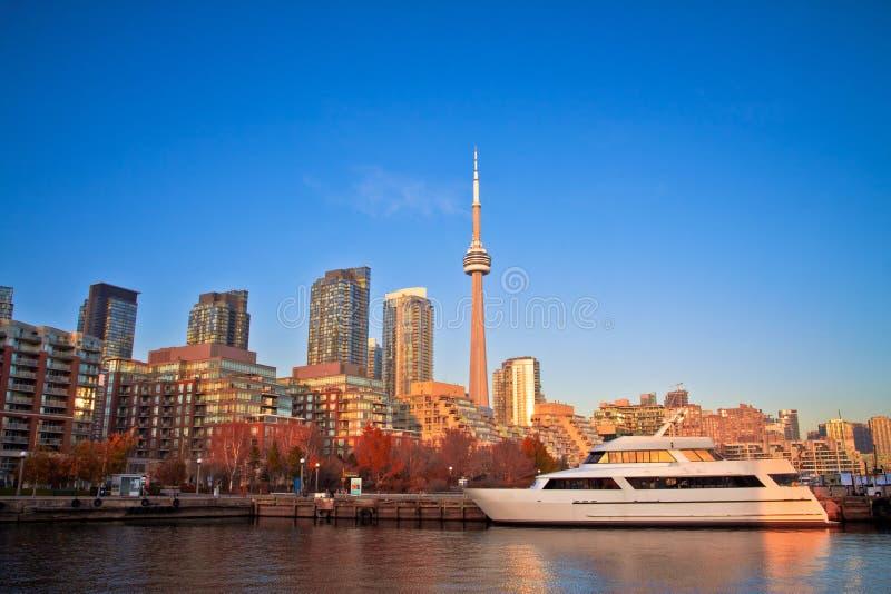 Frente del puerto de Toronto fotografía de archivo libre de regalías