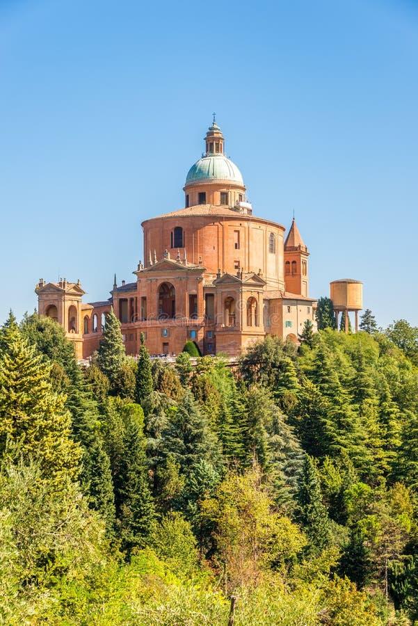 Visión en el santuario de los di San Luca de Madonna en Bolonia - Italia imágenes de archivo libres de regalías