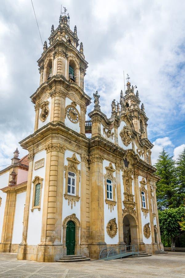 Visión en el santuario de nuestra señora de Remedios en Lamego - Portugal fotos de archivo