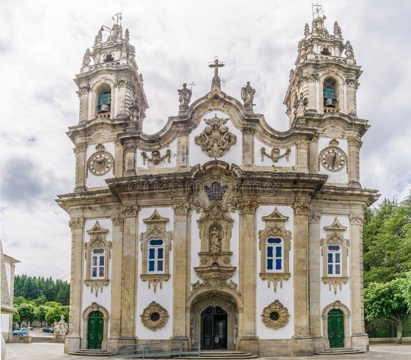 Visión en el santuario de nuestra señora de Remedios en Lamego, Portugal fotos de archivo libres de regalías