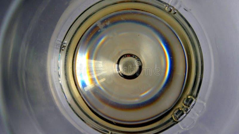 Visión en extracto de la copa de vino imagen de archivo libre de regalías