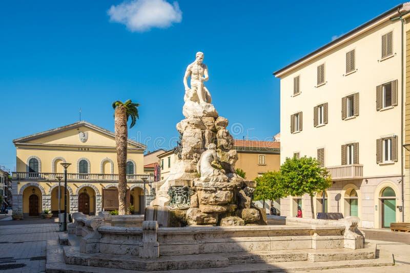 Visión en la fuente de Maremma en Cecina - Italia imagen de archivo libre de regalías