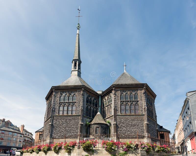 Visión en la iglesia del ` s de Catherine del santo en Honfleur, Francia fotografía de archivo