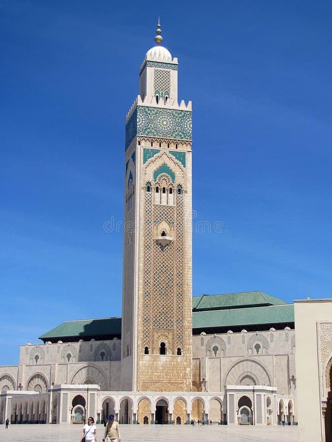 Visión en la mezquita Hasan II en Casablanca, Marruecos Es una de las mezquitas más grandes del mundo fotos de archivo