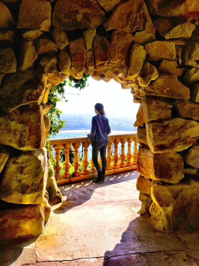 Visión en San Sebastián, España foto de archivo