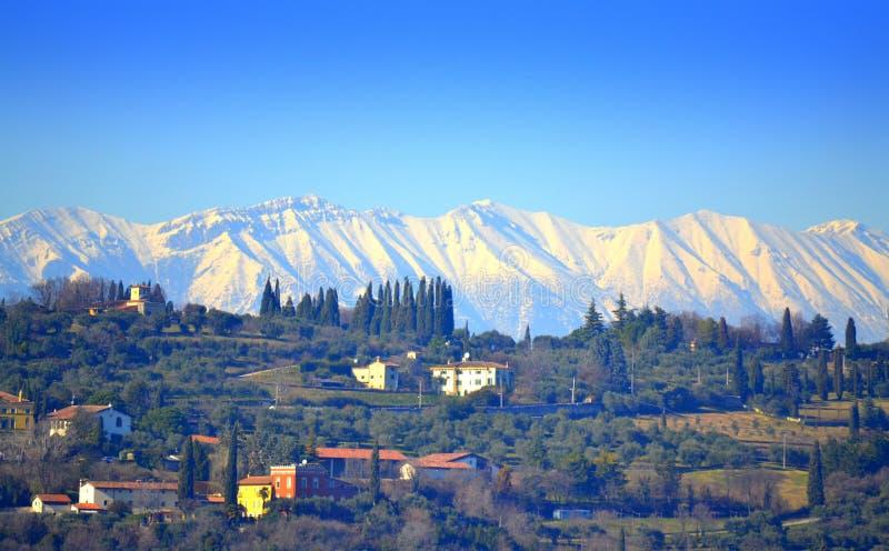 Visión escénica hermosa Italia del norte fotos de archivo libres de regalías
