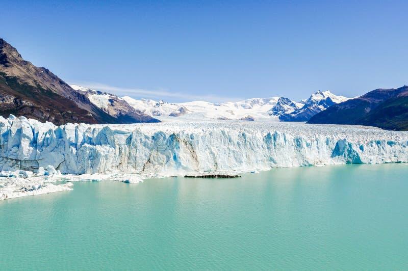 Visión frontal, Perito Moreno Glacier, la Argentina foto de archivo