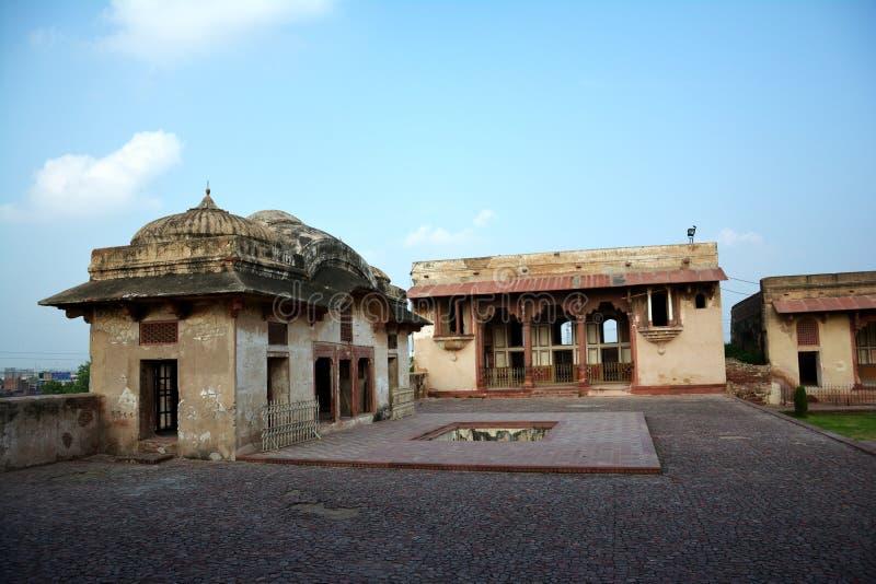 Visión general Sheh Dara y el cuadrilátero de Jahangir - fuerte de Lahore foto de archivo libre de regalías