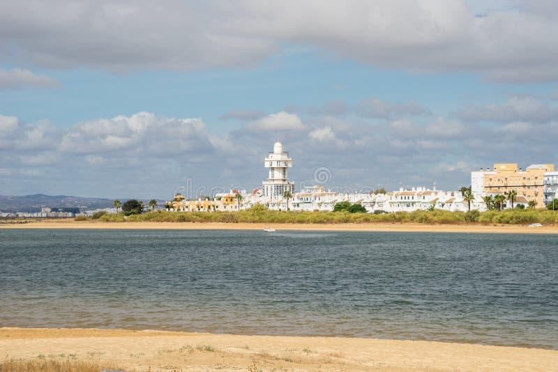 Visión hacia Isla Cristina imagen de archivo libre de regalías