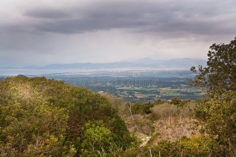 Visión hacia la bahía de Palma foto de archivo libre de regalías