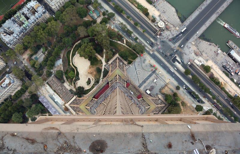 Visión increíble desde la torre Eiffel imagenes de archivo