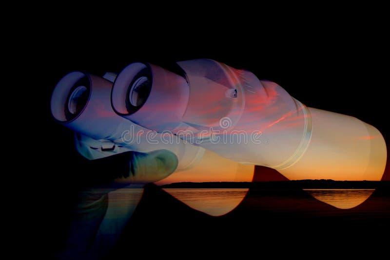 Visión nocturna binocular imagenes de archivo