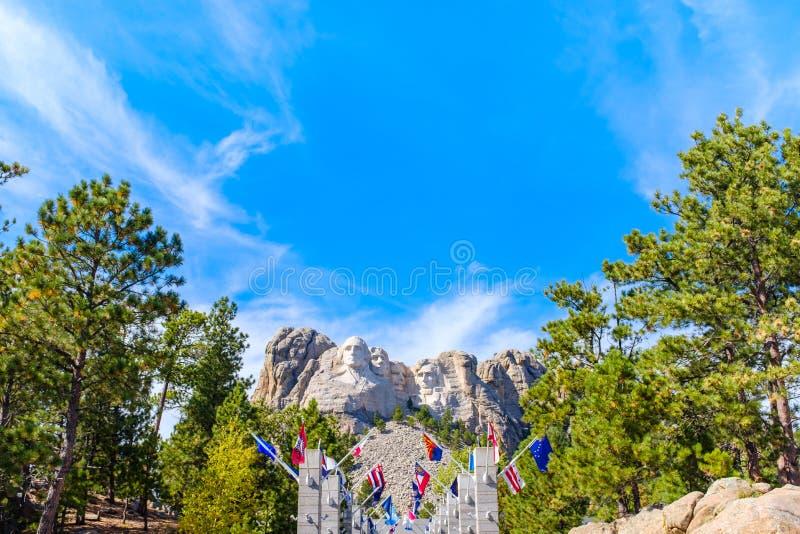 Visión od el monumento nacional del monte Rushmore foto de archivo