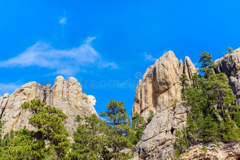 Visión od el monumento nacional del monte Rushmore fotografía de archivo