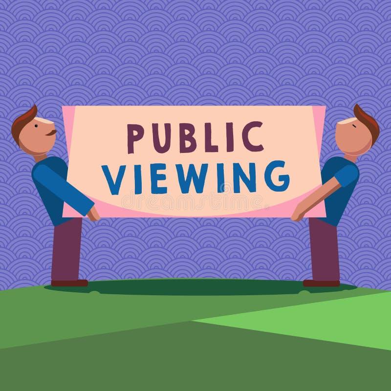 Visión pública de la escritura del texto de la escritura El significar del concepto capaz de ser visto o de ser sabido por todo e libre illustration