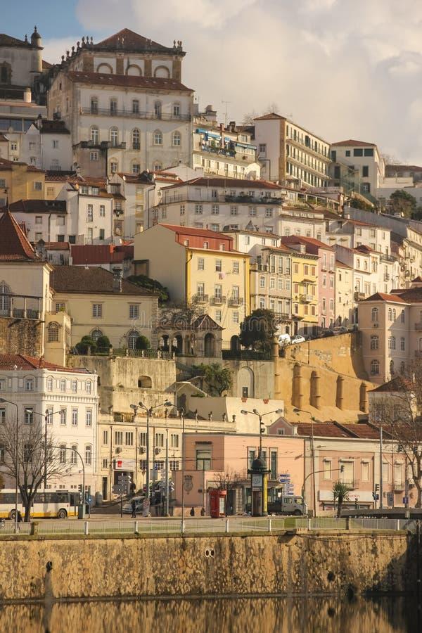 Visión panorámica Coímbra portugal fotografía de archivo libre de regalías
