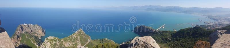 Visión panorámica desde Bejaia, Argelia fotos de archivo libres de regalías