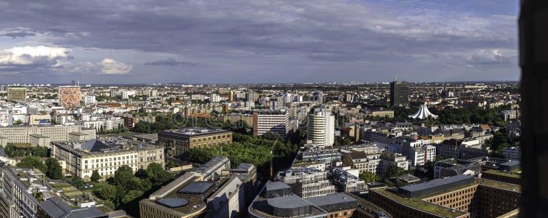 Visión panorámica desde el Potsdamer Platz, dowtown Berlín imagen de archivo