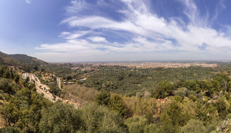 Visión panorámica desde Kasbah nombrado fortaleza Ras el-Ain imagenes de archivo