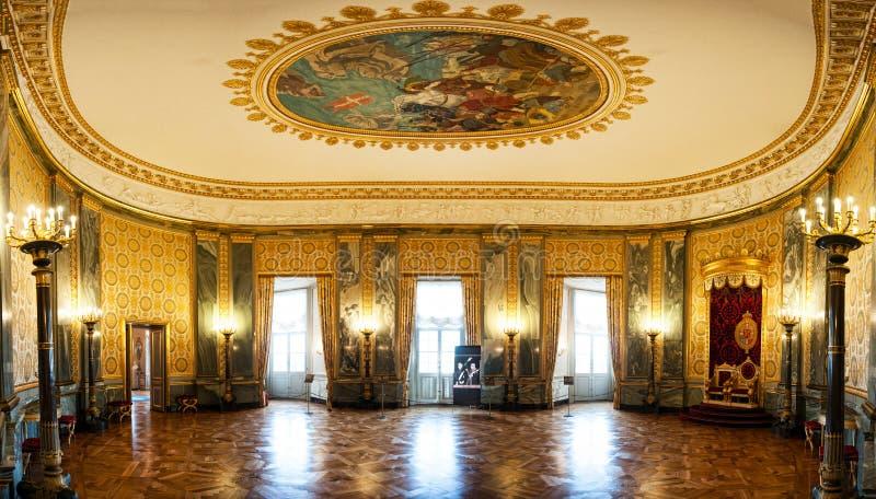 Visión panorámica en el palacio de Christiansborg foto de archivo libre de regalías