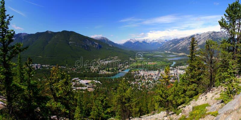Visión panorámica hermosa: Naturaleza maravillosa en Banff Nationalpark imágenes de archivo libres de regalías