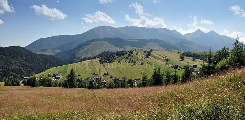 Visión panorámica, montaña Belianske Tatras, Eslovaquia, Europa imágenes de archivo libres de regalías