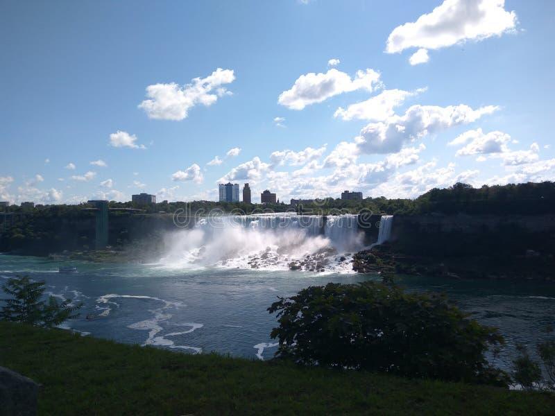 Visión panorámica Niagara Falls fotos de archivo libres de regalías