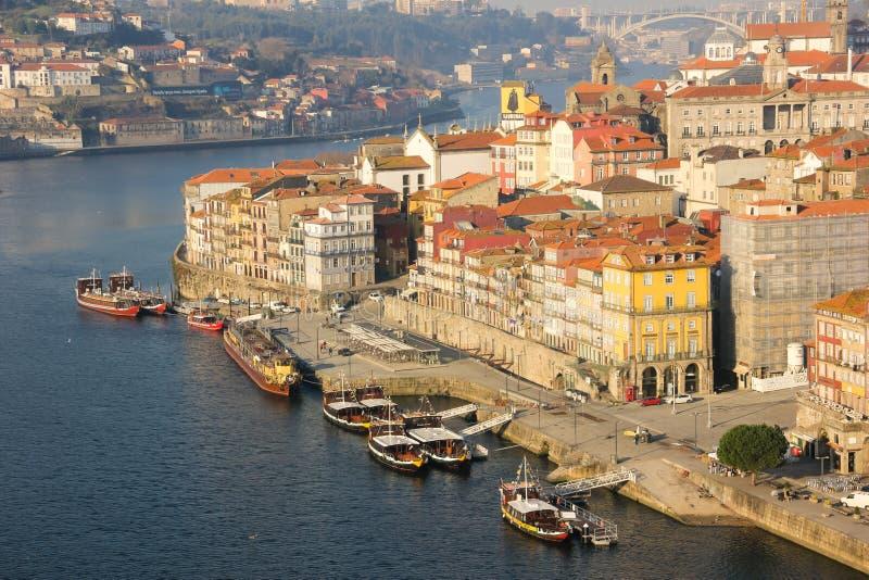 Visión panorámica. Oporto. Portugal foto de archivo libre de regalías