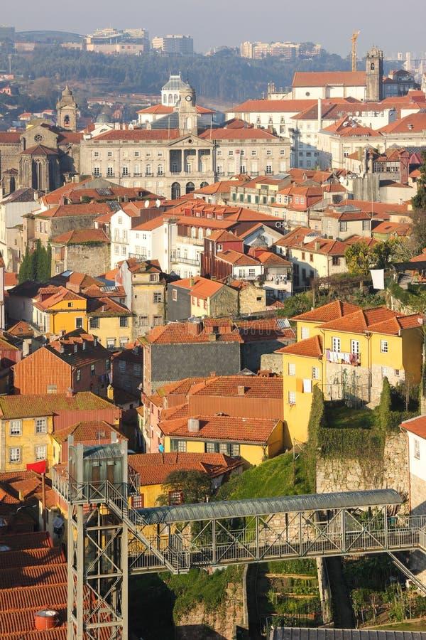Visión panorámica. Oporto. Portugal imagen de archivo