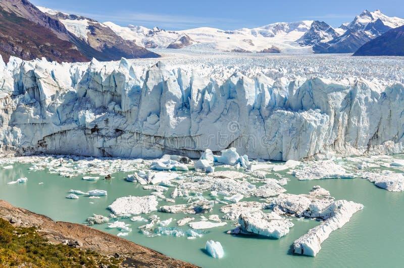 Visión panorámica, Perito Moreno Glacier, la Argentina imagenes de archivo