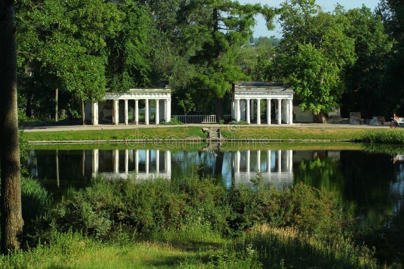 Visión pintoresca en parque del paisaje de la ciudad de Alexandría - de Bila Tserkva fotografía de archivo