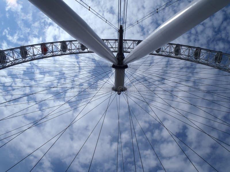 Visión que mira para arriba el ojo de Londres fotos de archivo libres de regalías