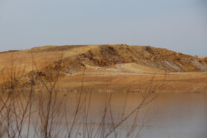 Visión rústica en otoño/pantano con las cañas secas en otoño/ foto de archivo libre de regalías