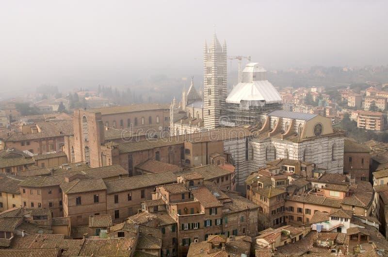 Visión Siena desde Torre Del Mangia foto de archivo