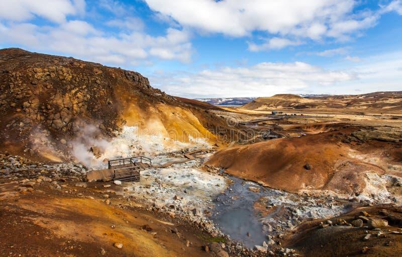 Visión sobre área geotérmica imagen de archivo libre de regalías