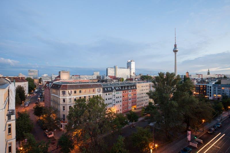 Visión sobre Berlin Alexanderplatz imagen de archivo