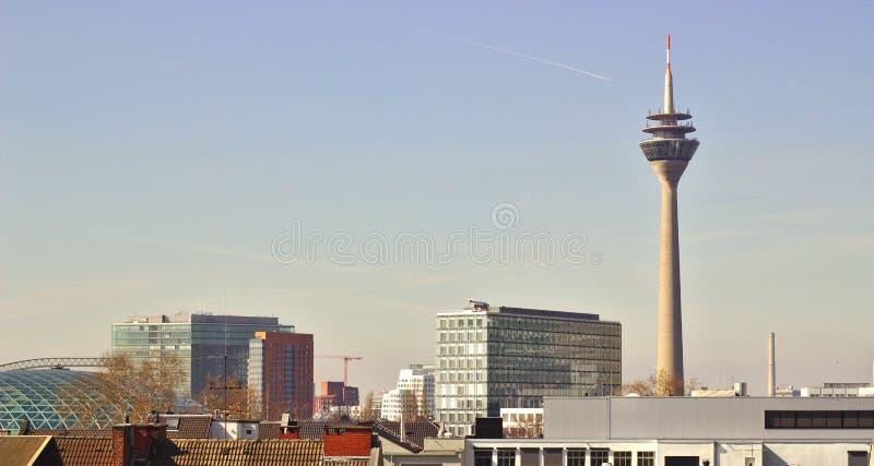 Visión sobre Düsseldorf foto de archivo libre de regalías