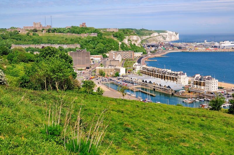 Visión sobre Dover foto de archivo libre de regalías