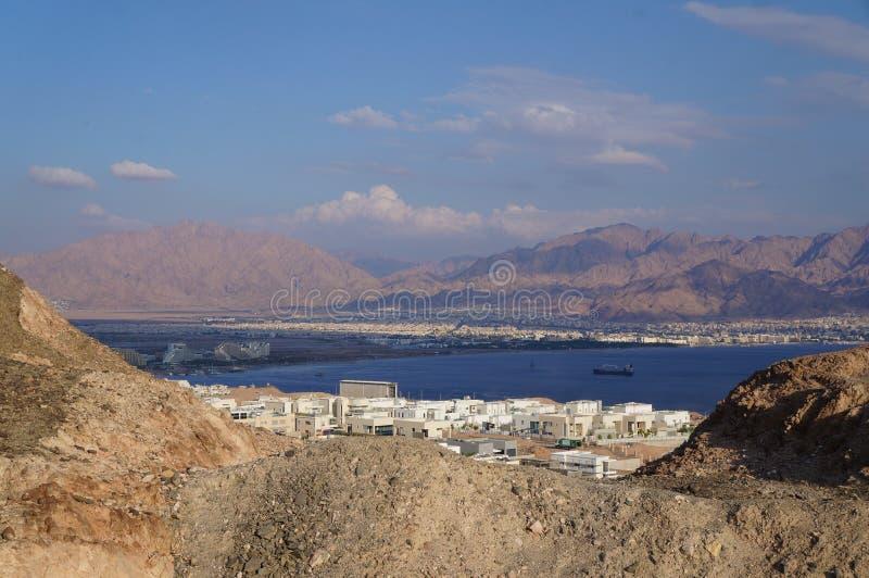 Visión sobre el golfo de Eilat fotos de archivo